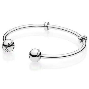 Pandora .925 Sterling Open Bangle With End Caps